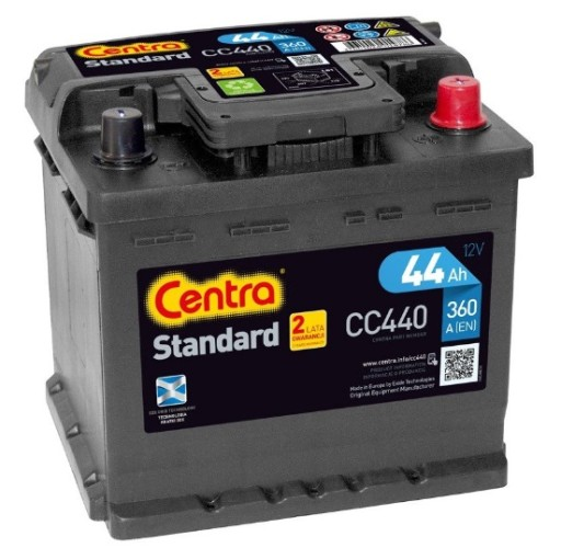 THE CENTER STANDARD 44AH 360A LT DELIVERY I MOUNTING