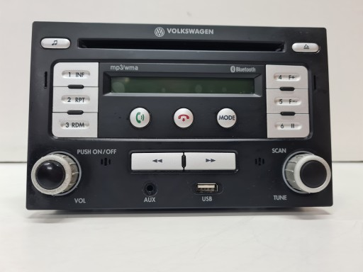 VW T5 RADIJO GROTUVAS BLUETOOTH USB MP3 000051218B