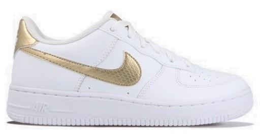 Buty Nike Air Force 1 Lv8 Dla Dzieci Buty Białezłote Buty