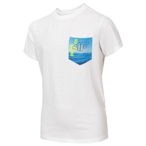 Koszulka 4F Junior HJL20-JTSM020 10S 146 cm 10784186967 Odzież Męska T-shirty HT ILRPHT-9