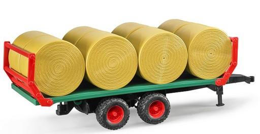 BRUDER 02220 Przyczepa do transportu siana + 8 bel