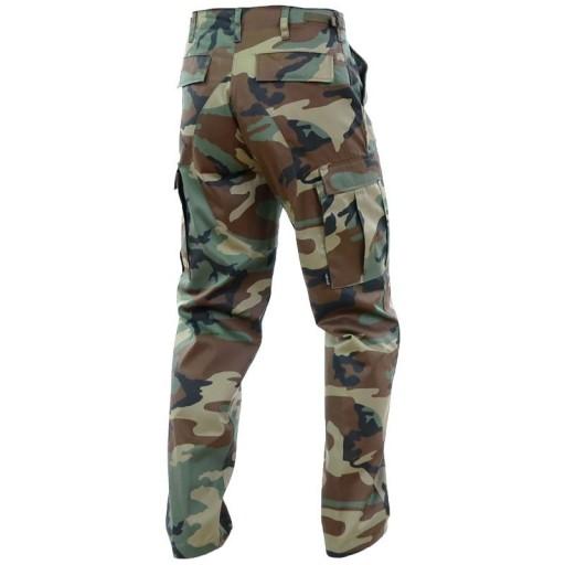 SPODNIE Wojskowe BDU Wzmacniane MORO Woodland L 10690070577 Odzież Męska Spodnie JZ NDUXJZ-7