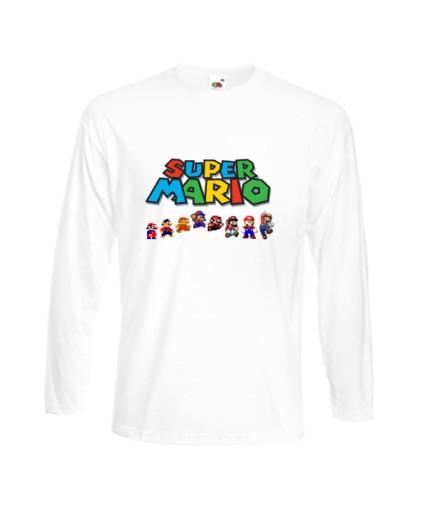 BLUZKA MĘSKA SUPER MARIO BROS WZORY 9369577729 Odzież Męska Koszulki z długim rękawem UX BTKRUX-8