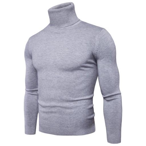 Sweter męski ze stÓjką slim, męska dzianina 10709686219 Odzież Męska Swetry WU DOKMWU-5