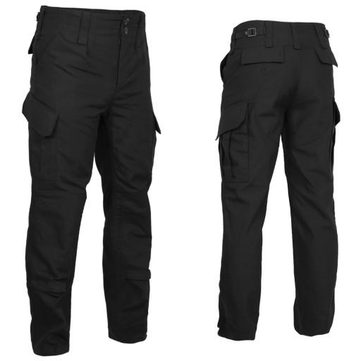 Spodnie taktyczne bojÓwki TEXAR Wz10 Czarne 9691740199 Odzież Męska Spodnie JK MMFTJK-2