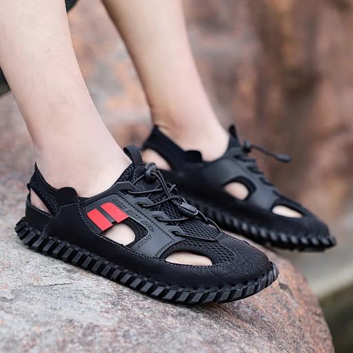 Sandały kapcie buty skorzane trekkingowe męskie 10495675873 Obuwie Męskie Męskie WA SRTUWA-4