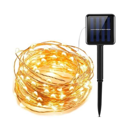 Drucik Solarny Lampki Dekoracja Ogród 10M 100 LED