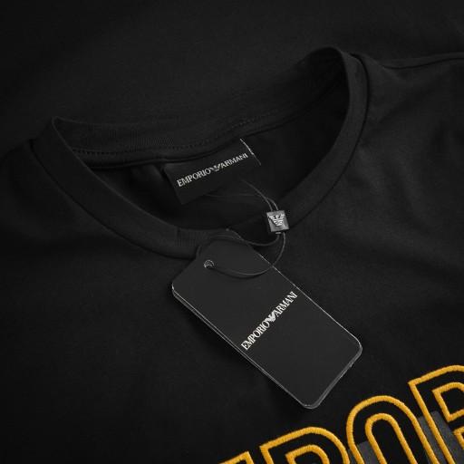 EMPORIO ARMANI T-SHIRT WYSZYWANE ZŁOTE LOGO /S 10200565332 Odzież Męska T-shirty KB DHRMKB-4