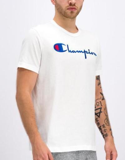D0F212*CHAMPION - T-SHIRT BIAŁY M C01 10779922938 Odzież Męska T-shirty HH MHQNHH-7
