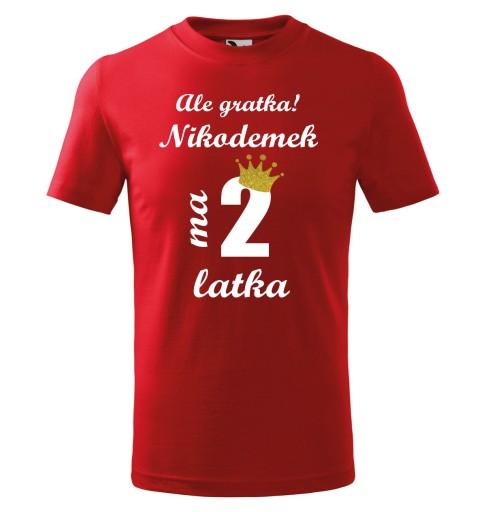 Koszulka Na 2 Urodziny Ale Gratka Mam 2 Latka Imie 10100903539 Allegro Pl