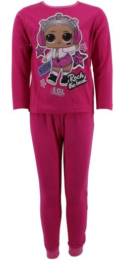 Piżama bawełniana laleczka LOL 146-152 fuksja