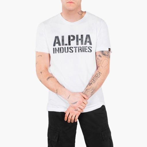 Alpha Industries CAMO PRINT T-SHIRT BLACK/WHITE XX 10750519072 Odzież Męska T-shirty AG JIYFAG-3