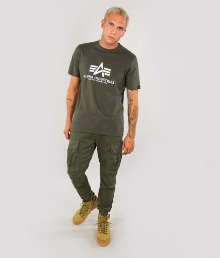 T-shirt koszulka ALPHA INDUSTRIES BASIC 100501 142 10639560503 Odzież Męska T-shirty ZB PMLRZB-3