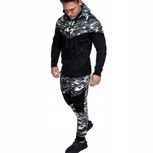 Dres męski modny moro bluza i spodnie XL 10716740996 Odzież Męska Spodnie FU RYHSFU-5
