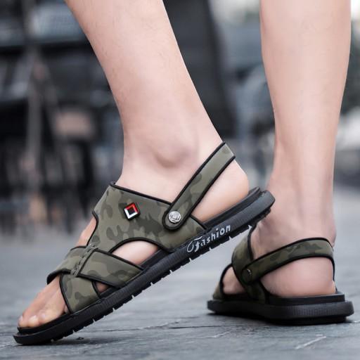 Modne sandały kapcie buty męskie na lato skorzane 10512344527 Obuwie Męskie Męskie TK GNPJTK-1
