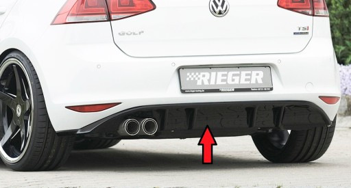Rieger Dokladka Tyl Zderzaka Dyfuzor Vw Golf 7 Gti Gdansk Allegro Pl