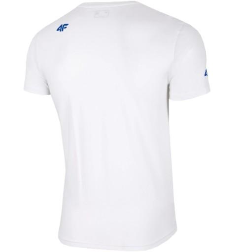4F T-SHIRT H4L19-TSM009 BIAŁY L 9521605472 Odzież Męska T-shirty KU PUDVKU-9