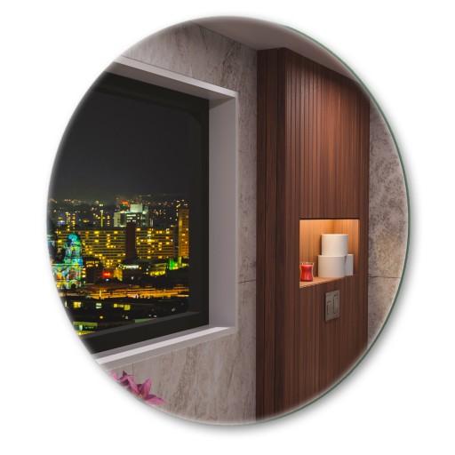 Lustro okrągłe 80cm podświetlane do łazienki
