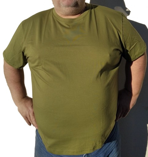 T-SHIRT KOSZULKA BAWEŁNIANA 7XL KHAKI 10611872187 Odzież Męska T-shirty GL KOIKGL-9