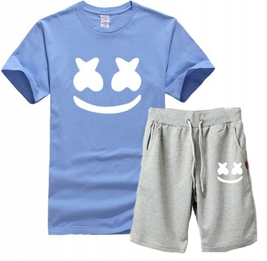 Męski Letni Komplet Marshmello Spodenki + T-shirt 10714622019 Odzież Męska Komplety GW VASFGW-2