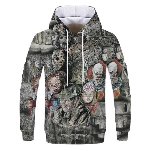 Sweter męski Bluza męska z kapturem z nadrukiem cy 9626476052 Odzież Męska Swetry ZU KBGFZU-7