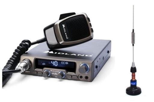 RADIO CB MIDLAND M-20 ANTENA MIDLAND LC59 NAKLEJKA