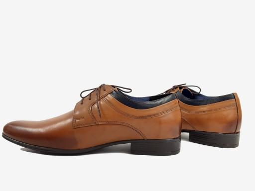 AGDA 605 buty wizytowe POLSKIE słomka 42 SKÓRA 10201208470 Obuwie Męskie Męskie QH AJCUQH-1