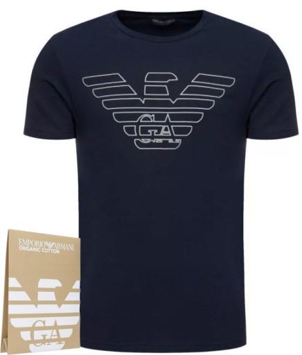 EMPORIO ARMANI GRANATOWY MĘSKI T-SHIRT KOSZULKA M 9451334933 Odzież Męska T-shirty TL LCCBTL-7