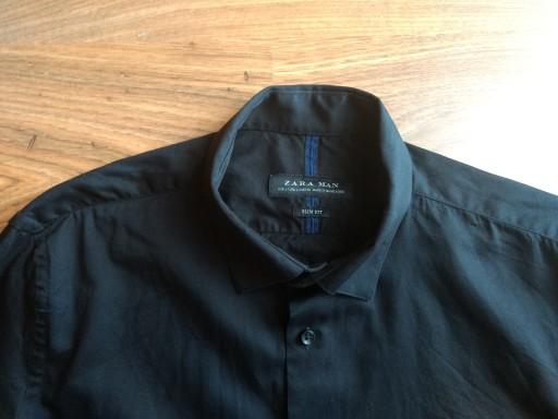 czarna 100% bawełna slim fit Zara j nowa r.L 10728776826 Odzież Męska Koszule QS UEBYQS-6