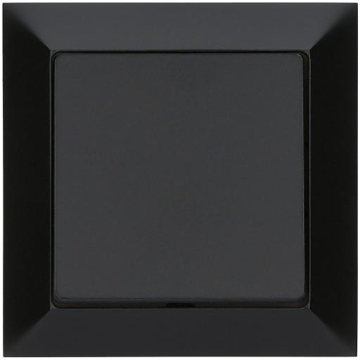 Wyłącznik pojedynczy PREMIUM czarny MAT