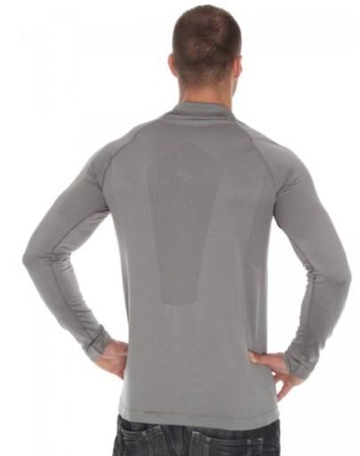 Brubeck LS10620 Koszulka polo PRESTIGE szara XL 10013209929 Odzież Męska Koszulki z długim rękawem DC CTNDDC-3