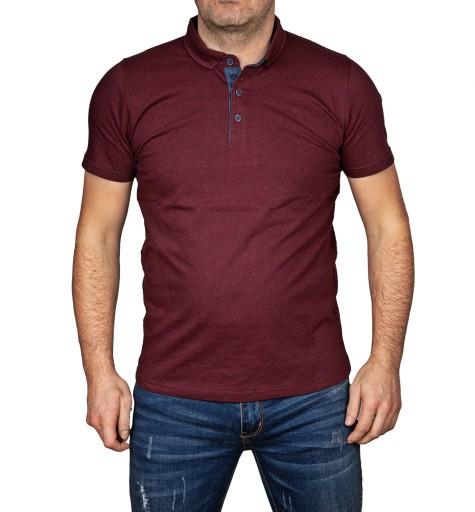 Polo męska koszulka śliwkowa t-shirt polÓwka xl 10254223159 Odzież Męska Koszulki polo OL ZSTFOL-3