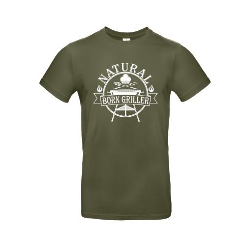 Koszulka Natural Born Griller, roz. XXL 10556759174 Odzież Męska T-shirty RP QCEHRP-1