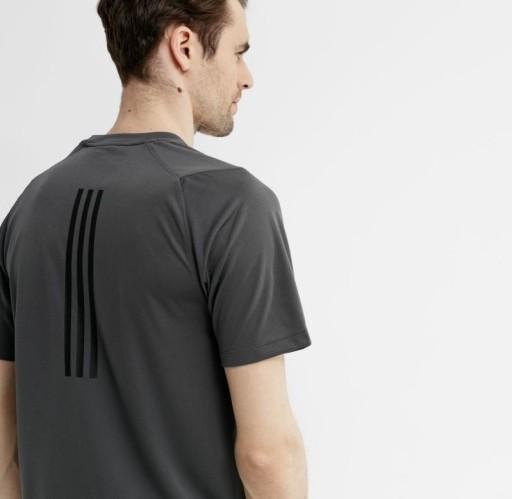 ADIDAS T-SHIRT MĘSKI SZARY KLASYCZNY LOGO XXL YAC 10780387535 Odzież Męska T-shirty EN QOIQEN-2