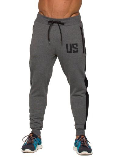 Spodnie joggery męskie spodnie dresy #MakeUsStrong 9887449450 Odzież Męska Spodnie YX OHOKYX-7