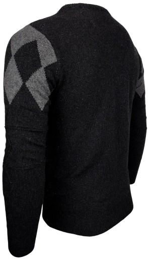 SWETER MĘSKI WEŁNIANY _ W210 BARDZO CIEPŁY r. XXL 9919699675 Odzież Męska Swetry FF VLJMFF-9