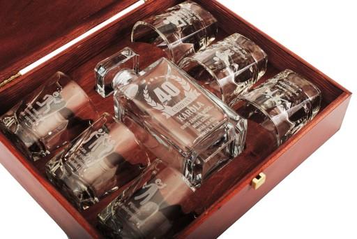 karafka 6 szklanek na 18 30 40 50 urodziny prezent