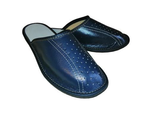 Pantofle męskie skÓrzane 9919071869 Obuwie Męskie Męskie AU YIWBAU-9