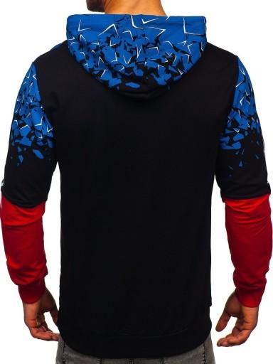 BLUZA MĘSKA Z NADRUKIEM CZARNA 7026 DENLEY_M 9866563705 Bluzy Męskie Bluzy XD HCWJXD-7