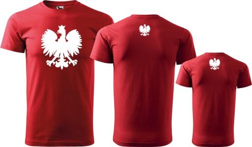 Zestaw kibica Taty Syna Godło Polski Piłka Nożna 10632379292 Odzież Męska T-shirty ZQ LDQHZQ-4