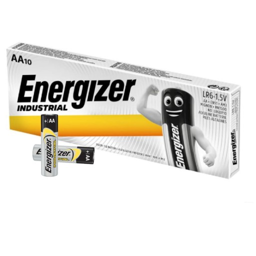 10x MOCNA BATERIA ENERGIZER INDUSTRIAL LR6 R6 AA