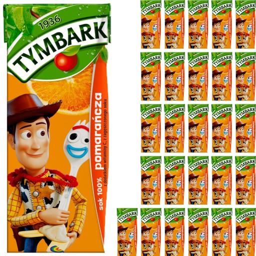 Tymbark Sok 100% Pomarańcza dla Dzieci 27x200ml