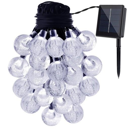 Lampki Solarne Ogrodowe Żarówka Lampa 30 LED 6.5 M