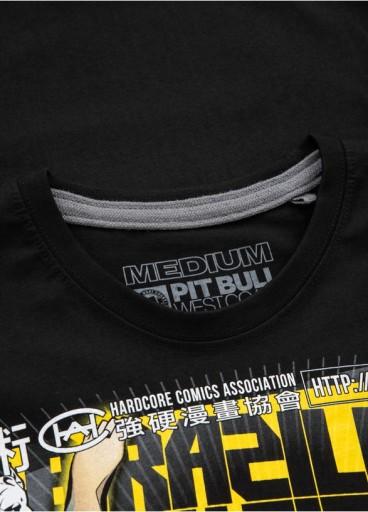 Koszulka BJJ Comics Pit Bull (XL) Czarna 10410330008 Odzież Męska T-shirty IT PTBWIT-9