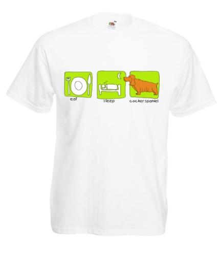 KOLOROWE KOSZULKI COCKER SPANIEL WZORY 9364921069 Odzież Męska T-shirty ZA YCLIZA-5