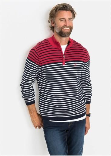 *B.P.C męski sweter w paski r.M 10780058345 Odzież Męska Swetry UO TMDKUO-4