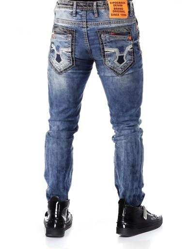 Cipo Baxx Spodnie Jeansy Męskie Przecierane Slim 9569957537 Odzież Męska Jeansy RL ILIWRL-8