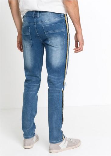 B.P.C męskie jeansy z lampasami r.40 10746486470 Odzież Męska Jeansy ZH CRBEZH-4
