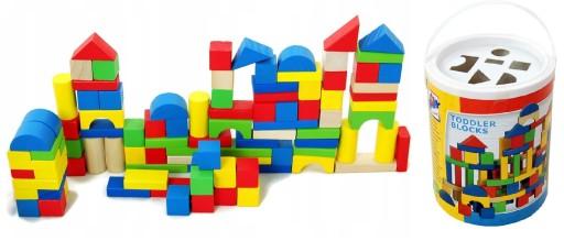 Zabawki dla dzieci Kolorowe klocki 100szt + sorter