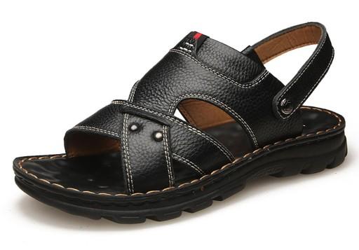 Men's Leather Sandals Beach Shoes 10477656345 Obuwie Męskie Męskie IJ HASHIJ-9